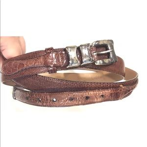 Vintage CALE SPAIN Genuine Lizard / Crocodile Belt